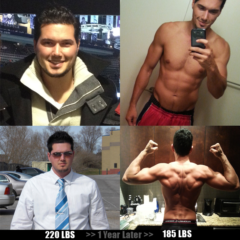 Adam 220lbs - 185lbs